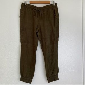 OLD NAVY Linen Green Cargo Pants